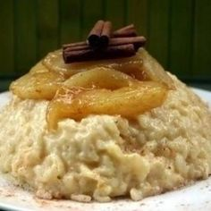 rice-pudding with pear Risotto, Mashed Potatoes, Recipies, Paleo, Pudding, Baking, Ethnic Recipes, Food, France
