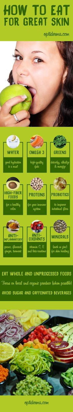 "Many cases of chronic skin problems seem to be directly linked to diet. Whereas a healthy diet can benefit skin, some foods are believed to cause skin damage. What is the link between nutrition and skin? Erin Schumacher is a Certified Natural Health and Holistic Nutrition Practitioner. Thanks to her experience in natural health and skin conditions, she helps us to clarify the notion of a ""healthy diet"" and the connexion between skin and nutrition."