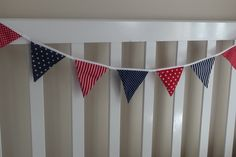 1.25m Mini Bunting Navy & Red Nautical Boys Bedroom Party Flags Decoration - by JoySisters on madeit