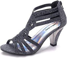 Dressy Sandals, Cute Sandals, Casual Heels, Black Sandals, Heeled Sandals, Fancy Shoes, New Shoes, Women's Shoes, Bride Shoes