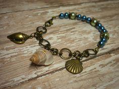 Del's Shells: A Beaded Seashell Charm Bracelet