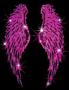 Fuchsia (Hot Pink) Angel Wings - Iron on Rhinestone Transfer Bling Hot Fix Applique - DIY Cross Wallpaper, Wings Wallpaper, Iphone Wallpaper, Angel Wings Art, Angel Art, Pink Lila, Rhinestone Transfers, All Things Purple, Everything Pink