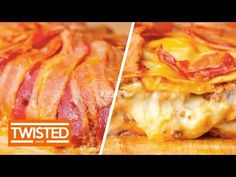 Have you tried bacon and lasagna combined before? Perfect for dinner, this lasagna dish will truly make your mouth water. Wrap Recipes, Bacon Recipes, Cooking Recipes, Bacon Lasagna, Pizza Lasagna, Dinner Menu Boards, Honey Ham Recipe, Best Pasta Dishes, Lasagne Recipes