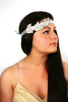 Absolutely stunning Handmade Pastel Sea Mist Beaded Headband, starting at $19. Completely #handmade and available here: http://tophatter.com/auctions/12657.