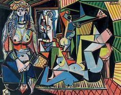 """""""Pablo Picasso  Les Femmes d'Alger (d'après Delacroix)  1955 Private Collection"""""""