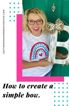 Learn how to make a simple bow in less than 5 minutes. How To Make Bows, Bow Making, Simple, Crafts, Craft Ideas, Women, Decor, Manualidades, Decoration