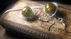 Custom earrings sold via FB - wire wrapped jewellery