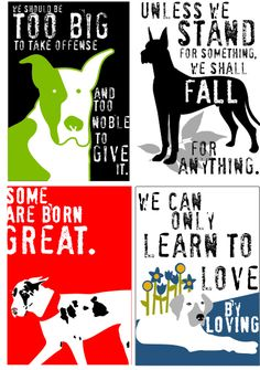 Great Dane Art Magnets - I would to put these on canvases for my wall