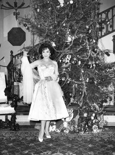 ciao! newport beach: Very Vintage Celebrity Christmases ~that is a sad looking Christmas tree!  LOL