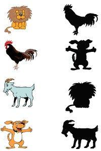 animal shadow match worksheets (11) | Crafts and Worksheets for Preschool,Toddler and Kindergarten