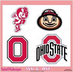 Ohio State Buckeyes Set Design Files Use Your Silhouette Studio Software SVG Files DXF Explore PNG Files Svg Fonts Cameo Cricut by SatinSVGdesigns