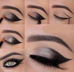 Cómo Maquillar Ojos En Negro Y Plateado