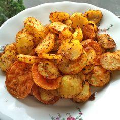 Knusprige+Kartoffelecken+mit+würziger+Guacamole