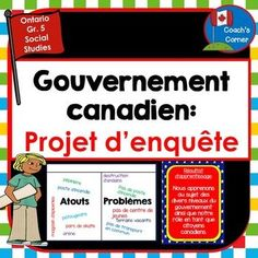 Canadian Government: Community Mapping Lapbook Unit for FRENCH IMMERSION Classes. Meets the Grade 5 expectations of the 2013 Ontario Social Studies Curriculum Ontario Curriculum, Social Studies Curriculum, Social Studies Activities, Teaching Social Studies, Government Lessons, Levels Of Government, Government Of Canada, Canadian Social Studies, Canadian Identity
