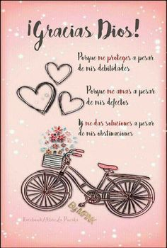 Gracias Dios Quotes About God, Love Quotes, Inspirational Quotes, Happy Quotes, Goeie More, God Loves Me, Jesus Loves, Messages, Bible Verses Quotes
