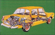 Škoda 1965 Cutaway, Bus Engine, Technical Drawings, Blue Prints, Model Car, Automobile, Trucks, Cars, Vehicles