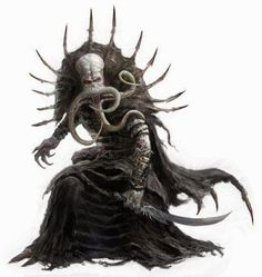 Not sure, but this looks a lot like an Illithid, mind flayer. Fantasy Races, Fantasy Rpg, Medieval Fantasy, Dark Fantasy, Cthulhu, Fantasy Monster, Monster Art, Fantasy Concept Art, Fantasy Artwork
