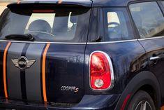 Interior/Exterior Got Striped - North American Motoring Mini Cooper 4x4, Mini Cooper Clubman, Vinyl Style, Interior And Exterior, Stripes, Cars, American, Autos, Car