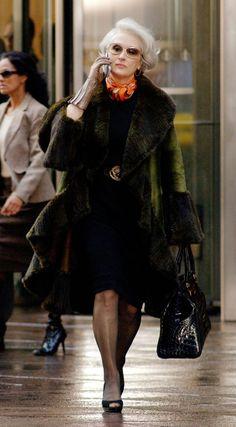 Miranda Priestly (Meryl Streep) 'The Devil Wears Prada' 2006. Costume designed by Patricia Field.