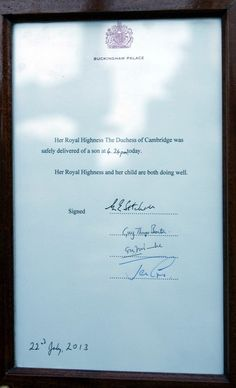 Proclamation  Love William and Kate!