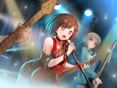 Anime Girl - Sweet Anime Girl - Kawaii Girls - 断ち切った迷い美竹 蘭 Cool Anime Girl, I Love Anime, Anime Art Girl, Anime Girls, Anime Girlxgirl, Party Characters, Anime Characters, Comic Style Art, Fanart