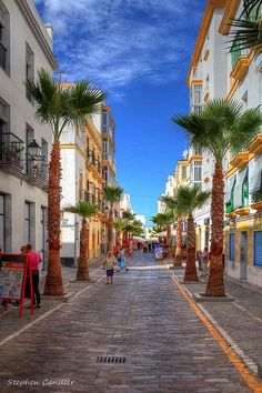 Streets in Cadiz, Andalusia_ Spain