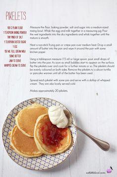 Pikelets Sweet Breakfast, Breakfast Recipes, Breakfast Time, Breakfast Ideas, Scotch Pancakes, Drop Scones, Good Food, Yummy Food, Baking Flour