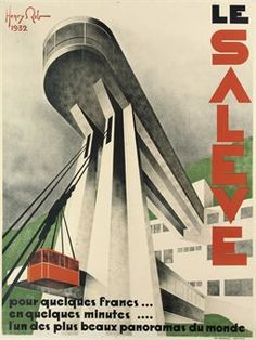 REB, HENRY (1883-1959)  LE SALEVE  lithograph in colours, 1932