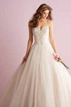 Wedding gown by Allure Romance