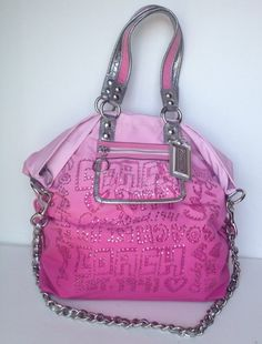 My dream purse.I'd give up all others for just this one! Coach Purses, Coach Bags, Purses And Bags, Bling Purses, Coach Poppy, Cute Bags, Wristlets, Spotlight, Clutches