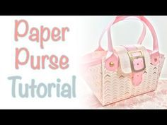 How to make a small paper purse / tote bag by Bibi Cameron - YouTube