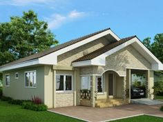 To own a Modern house design comes in every family's dream nowadays and everybody wants to have a house of their own. Pinoy House Design offers an impressive one storey house design detailed in Mag… House Floor Design, Glass House Design, Simple House Design, Modern House Design, Bungalow Haus Design, Small Bungalow, Bungalow House Plans, Dream House Plans, H Design