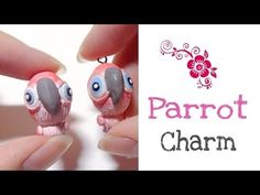 ***1******vs...........// ▶ Polymer Clay Parrot Charm Tutorial