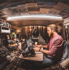 A photographer's dream office on the go   by @greg.mills
