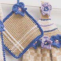 Ravelry: Towel Topper & Pot Holder: Square Pot Holder pattern by Lily / Sugar'n Cream