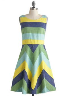 Pizzazz on the Piazza Dress, #ModCloth.  I could wear yellow, without looking sick!