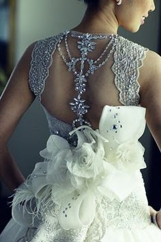 image of Veluz Reyes Bridal Collection ♥ Low Back Dedding Dress with Swarovski Details