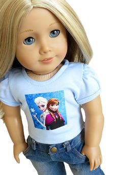 Monkey frozen anna and elsa blue top and denim capri pants 16 99