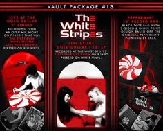 "SEALED The White Stripes Third Man Records Vault 13 Live Gold Dollar 12"" LP Tote #AlternativeIndieBluesRockGarageRock"