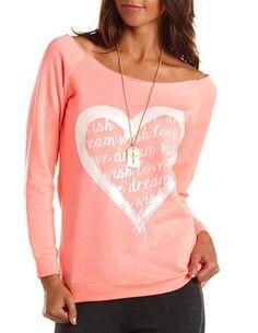 heart graphic, style, heart fleec, charlotte russe, fleec tunic