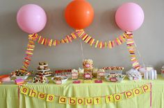She's about to pop! baby shower ideas!