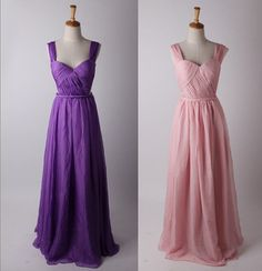 Purple Backless Strapless Chiffon Prom Dress Simple by DidoCouture, $119.00