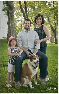Family Portraits, Bucks County.   Don't forget the family dog in family portraits.  He's part of the family too!
