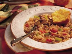 Vegetable Jambalaya - For Gluten Free version substitute W. Sauce Vegetarian Recipes Dinner, Vegetarian Options, Diet Recipes, Vegetarian Food, Vegan Recipes, Meatless Chili, Jambalaya Recipe, Daniel Fast Recipes, Creole Cooking