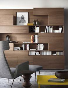 modular bookcase / contemporary / wood / custom