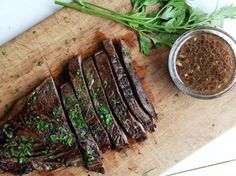 Marinade For Flank Steak Recipe - sub out liquid aminos for soy sauce and ACV for red wine vinegar to make P3 compliant. Use homemade P2 Worcester sauce.