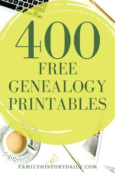Free genealogy printables can range from family tree charts or templates to a fill-in genealogy form or worksheets to family binder inserts and genealogy scrapbooking pages. If you're looking for a specific free genealogy printable, or a wide variety to have on hand, we've rounded up over 400 free family tree printables to help you with your genealogy organization, filing system, family tree wall, and more. Genealogy Websites, Genealogy Forms, Genealogy Research, Family Genealogy, Free Genealogy, Family Tree Book, Family Tree Chart, Free Family Tree, Family Trees