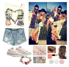 """""""A Party With Zayn"""" by ch0nce1d ❤ liked on Polyvore featuring Converse, M.N.G, Topshop, NYX and Nails Inc."""