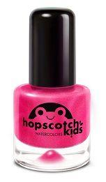 Hopscotch Kids - bubble gum, bubble gum in a dish (shimmering bright pink) non-toxic kids polish