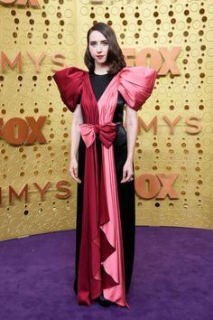 Zoe Kazan Evening Dress - Zoe Kazan went the sweet route in a tricolor Gucci gown with puffed sleeves and a bowed waist at the 2019 Emmy Awards. Michelle Williams, Maisie Williams, Zoe Kazan, Margaret Qualley, Rachel Brosnahan, Julia Louis Dreyfus, Robin Wright, Mandy Moore, Emily Hampshire
